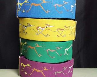 "Martingale Collar - Whippet, Greyhound - 2"" width - Running Hounds"