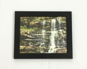Waterfall Print, Woods Wall Art, Forest Print, 8x10 Print, 11x14 Print, 16x20 Print, Landscape Photography, Nature Print, Housewarming Gift