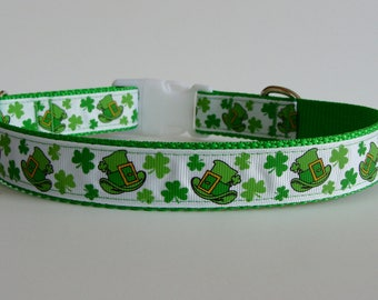 St. Patrick's Day Leprechaun Hat Dog Collar - Ready to Ship!