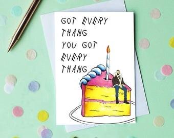 Drake Birthday Card, Funny Birthday Card, Happy Birthday, Drake Gift, Friend Birthday Card, Funny Greeting Card, Drake Bday Card