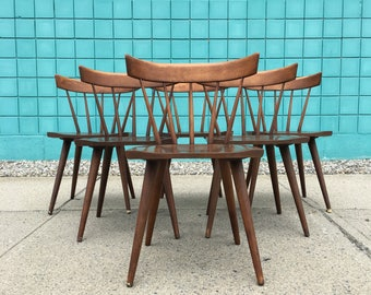 Paul McCobb | Planner Group Set (6) Dining Chairs | Mid Century spindle