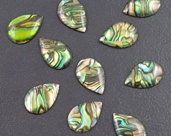 Abalone Cabochon, 15x10mm, calibrated, abalone cab, abalone, natural abalone, abalone cabochon, abalone shell, teardrop cab, shell cabochon