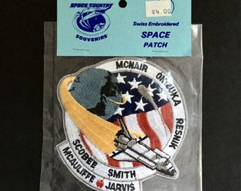 Souvenir Space Patch From Space Country NIP Space Shuttle Challenger Crew 1987 Commemorative Keepsake Memorabilia Mcauliffe Apple