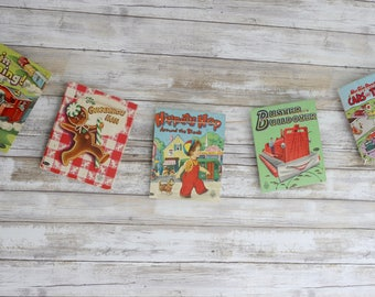 Vintage Children's Book Covers Bunting Banner Pennant Garland