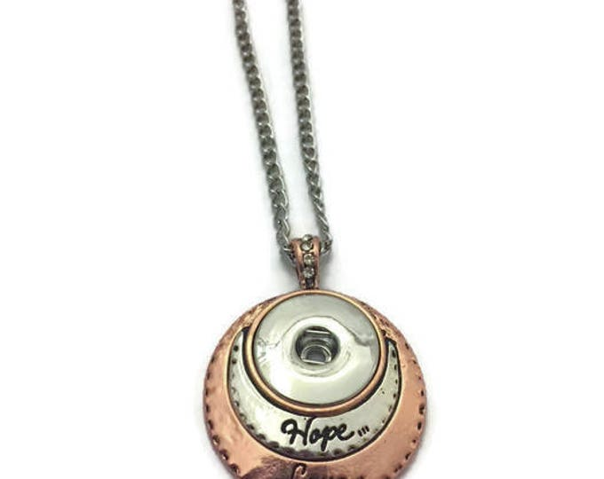 Snap Jewelry Necklace Pendant, Snap Necklace That Fits 18-20mm Snaps, Similar To Ginger Snaps, Magnolia & Vine, Choose Your Necklace Length