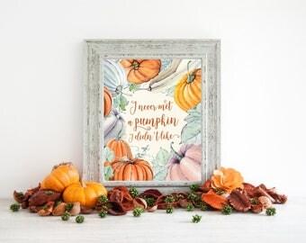 pumpkin print, pumpkin printable, pumpkin wall art, rustic fall decor, autumn decor fall printable, fall sign, fall quote, fall decor