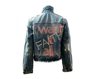 I Want It All-Faith  Jean Denim Jacket - Hipchik