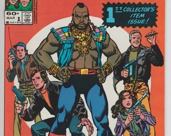The A-Team #1 1984 Marvel Comic Book Television Show Mr. T Adaptain NBC TV