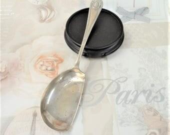 Crumb Tray Silver Plated Garter Motif Spoon Handle John Batt & Co. EPNS Sheffield UK Vintage Tableware Serving Collectables