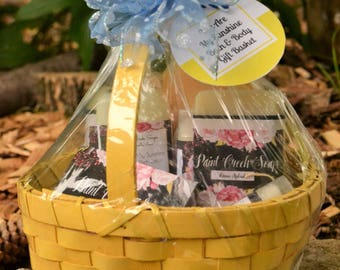 New Mom Gift Basket | Baby Girl | Baby Boy |Bath & Body Gift Basket | Handcrafted in Iowa