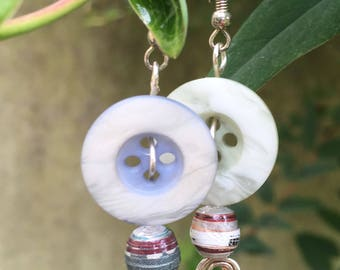 Pastel button earrings