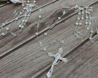 FAST SHIPPING!! Beautiful Sparkling Silver Wedding Lasso, Wedding Lasso, Wedding Unity Cord, 25th Anniversary, Wedding Gift, Wedding Cord