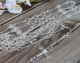 FAST SHIPPING!! Beautiful Sparkling Silver Wedding Lasso, Vintage Wedding Lasso, Laso de Bodas, 25th Anniversary, Wedding Gift, Unity Cord