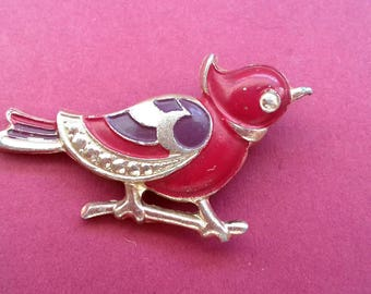 Bird brooch. Rare Vintage collectible soviet pin badge. / Made in USSR, 1980s