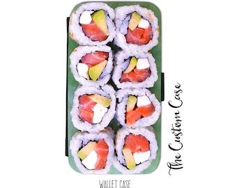 Sushi Roll Wallet Case, Fun Sushi Wallet Case, Food Wallet Case, Samsung Wallet Case, Wallet Case Iphone