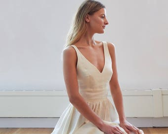 Linen wedding dress   Etsy