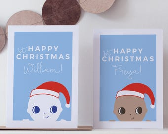 Baby's First Christmas Card - Personalised Christmas Card - 1st Christmas Card