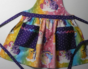 Girls My Little Pony Apron With Pockets Girls Apron Rainbow