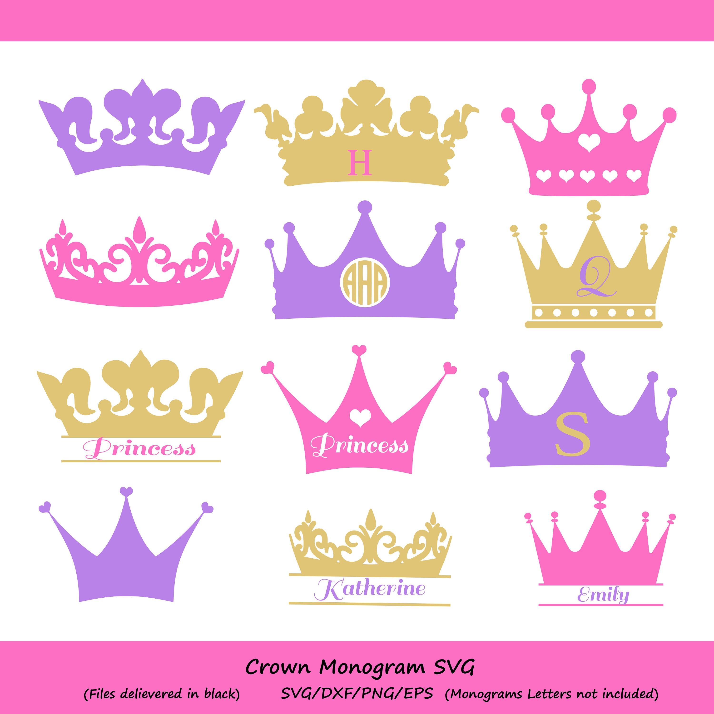 Crown Svg Crown Monogram Svg Princess Crown Svg Crowns