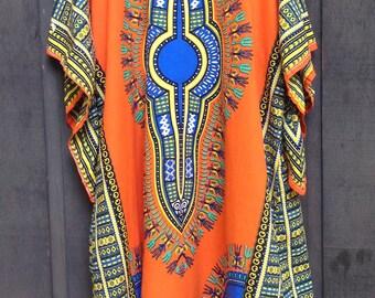 1990's Wonder Wear Dashiki / Full Length / Kaftan Caftan / Size Extra Large