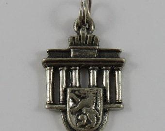 Berlin Brandenburg Gate Silver Vintage Charm For Bracelet