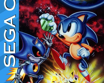 Sonic CD Custom Reproduction Sega CD Game.