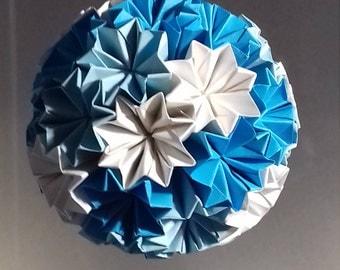 Frozen Origami Kusudama ball