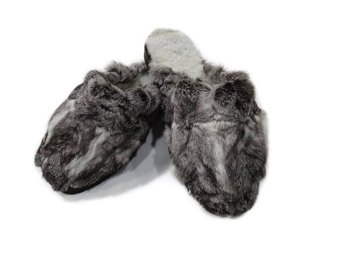 Rabbit Fur Slippers,Fur Slippers F754