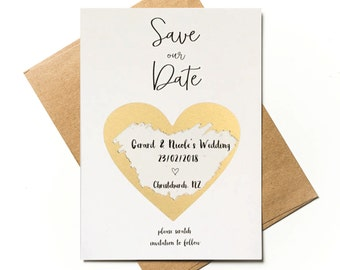 Save our Date - Scratch to reveal