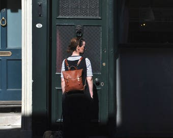 Women's Italian Leather Backpack, Brown Backpack, Leather Bag, Leather Rucksack, Backpack, Gift, Handmade Leather Backpack, Leather Backpack