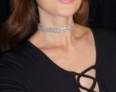Helena Choker. Style 1. Gorgeous Crystal Choker with Swarovski Crystals. Trendy Choker. Elegant Choker Necklace. Chocker.