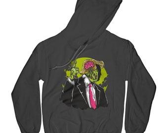 Zombie hoodie funny hoodie skull hoodie bones hoodie hipster hoodie apocalypse hoodie husband gift brother present    APV66