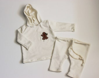 Baby Boy Romper, baby 1st birthday outfit boy, baby hoodie, Newborn Romper, Cake Smash outfit, Christmas baby outfit, Cream baby hoodie