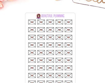 Happy Mail Envelope Planner Stickers -  for use in ERIN CONDREN LIFEPLANNER ™, Happy Planner, Filofax, Kikki K.