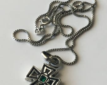 Celtic Cross sterling silver pendant, silver cross necklace, 925 cross and necklace