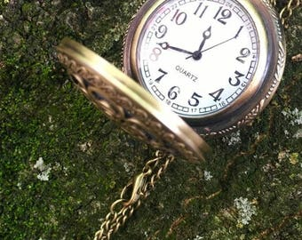 Down the Rabbit Hole Pocket Watch Necklace