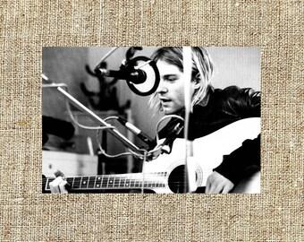 Kurt Cobain photograph, black and white photo print, vintage photograph, Christmas gift for him or her, Nirvana grunge