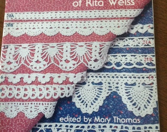 Favorite Crocheted  Edgings of Rita Weiss, Victorian Era Edgings, vintage crocheted edgings, filet crochet instructions, crochet insertions