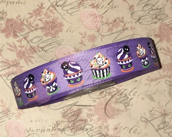 "Spooky Monster Cupcakes   USDR 7/8"" ribbon   Coordinated grosgrain set for bows and crafts"