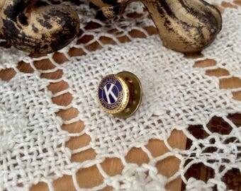 Vintage Kiwanis Club Enamel Lapel Pin Tie Tack