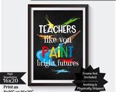 Art Teacher Gift Chalkboard Gift For Teacher Thank You Gift Teacher Subway Art Teacher Appreciation School Gift Instant Download JPG