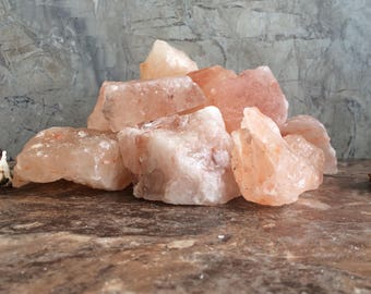 Summer Sale - Raw Himalayan Pink Salt Rocks Ethically Sourced from the Punjab Province