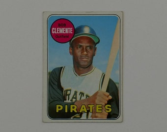 """Roberto """"Bob"""" Clemente, 1969 Topps Card, # 50, MLB Superstar, M/NM, Almost 50 Year Old Card, From Personal Collection, Pittsburgh Pirates"""