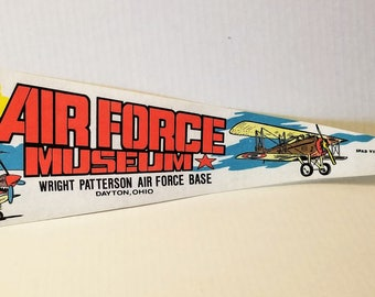 Air Force Museum, Wright Patterson Air Force Base, Dayton, Ohio - Vintage Pennant