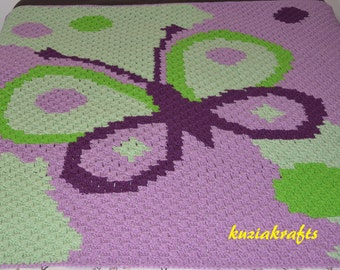 Crochet Butterfly Blanket