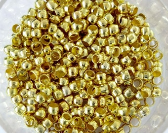 500 Gold Plated 2mm 3mm 4mm Round Crimp Beads Findings