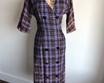 Vintage 1950s Ultra Violet Dress - Union Made