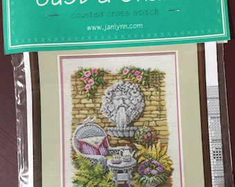 "Janlynn's Just-a-chart ""The Tea Garden"" #15-213 counted cross stitch pattern"