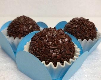 Gourmet Dark Chocolate Brigadeiro Brazilian Truffles – Delicious Edible Gifts