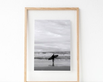 Surfing, Surf, beach, coastal, Photography, Black and White, Digital Art, Printable, Prints, Travel, Ocean